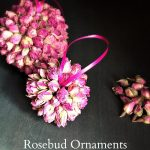 Learn how to make rosebud ornaments to hang on your Christmas tree. They are easy to make and add a nice scent to the room.