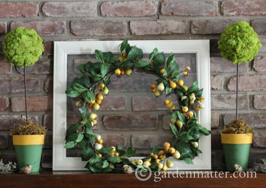 Spring Decor Wreath & Topiary~ gardenmatter.com