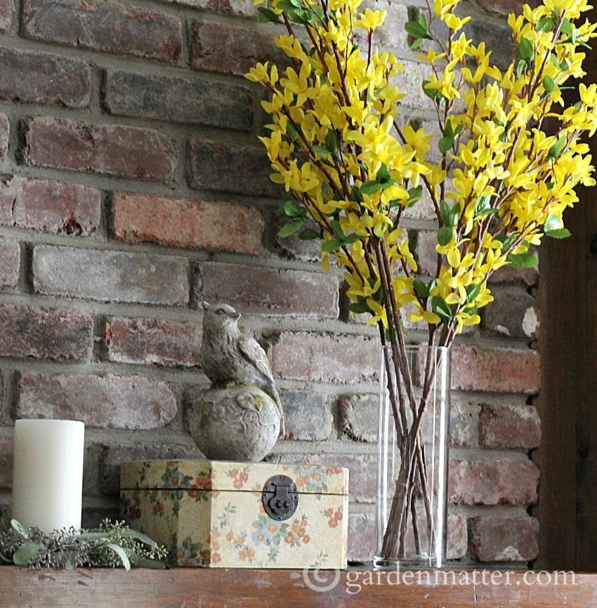Spring Mantel - bird ~ gardenmatter.com