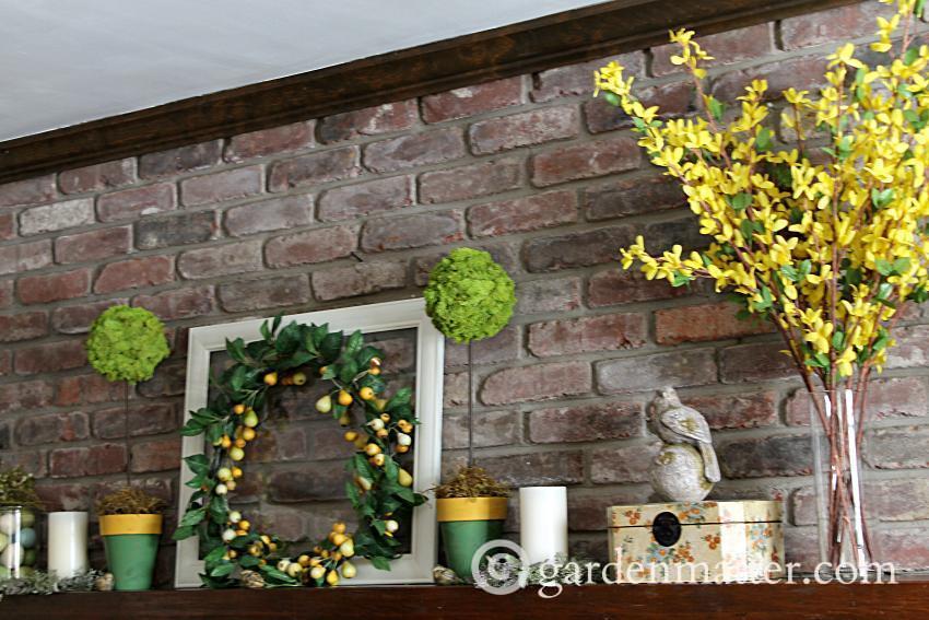 Spring Mantel side ~ gardenmatter.com