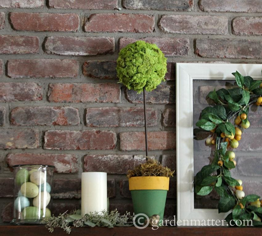 Spring Mantel vignette ~gardenmatter.com
