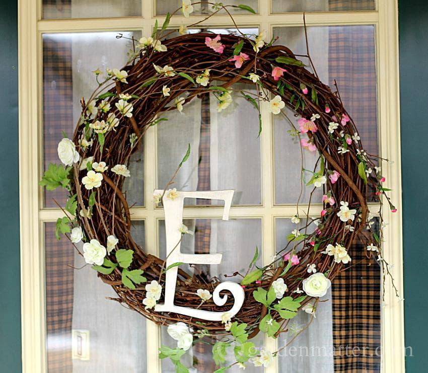 Spring Wreath E ~gardenmatter.com