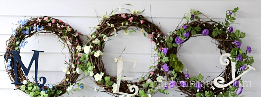 Easy Spring Wreaths on white ~gardenmatter.com