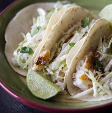 Simple Fish Tacos ~ gardenmatter.com