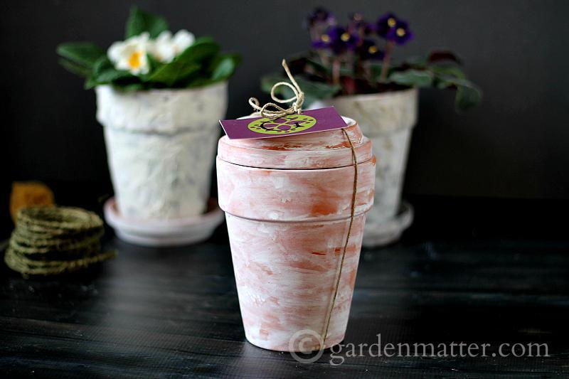 Terracotta Pot Gift - faux aged pots - gardenmatter.com