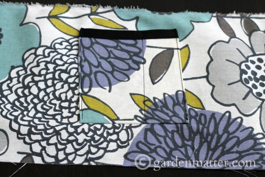 Tool belt pocket detail~gardenmatter.com
