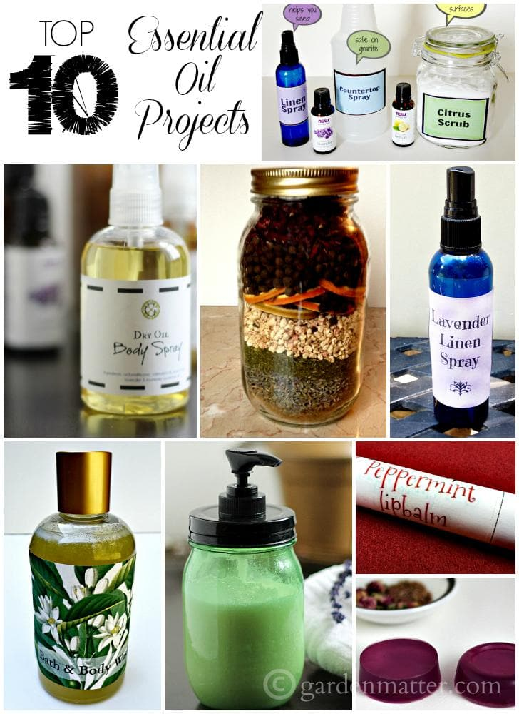 Top 10 essential oil projects to create with your favorite scents.