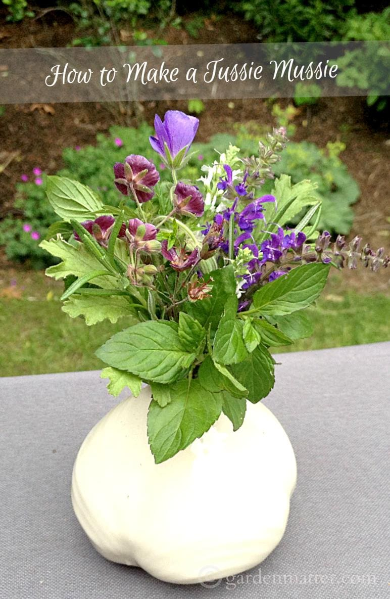 Learn how to make a Tussie Mussie with the Language of Flowers