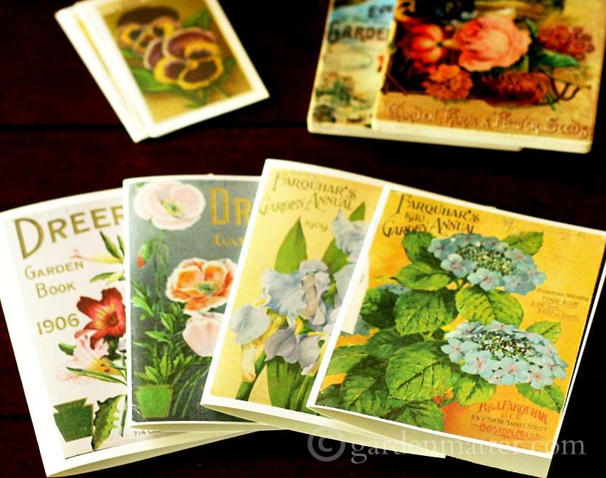 Enjoy making many paper crafts with vintage seed packets and catalog printables.