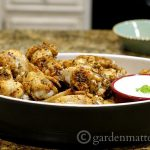 Wings with dip - Baked Wing Recipe - gardenmatter.com