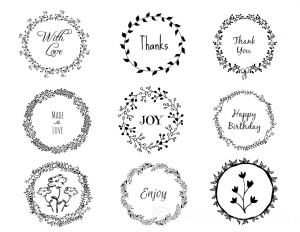 Wreath Gift tags pic