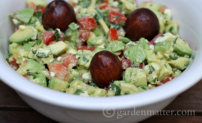 Fancy guacamole in a bowl