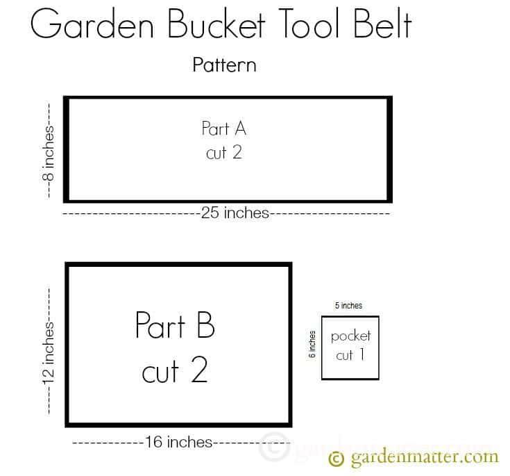 Garden Bucket Tool Belt Pattern ~gardenmatter.com