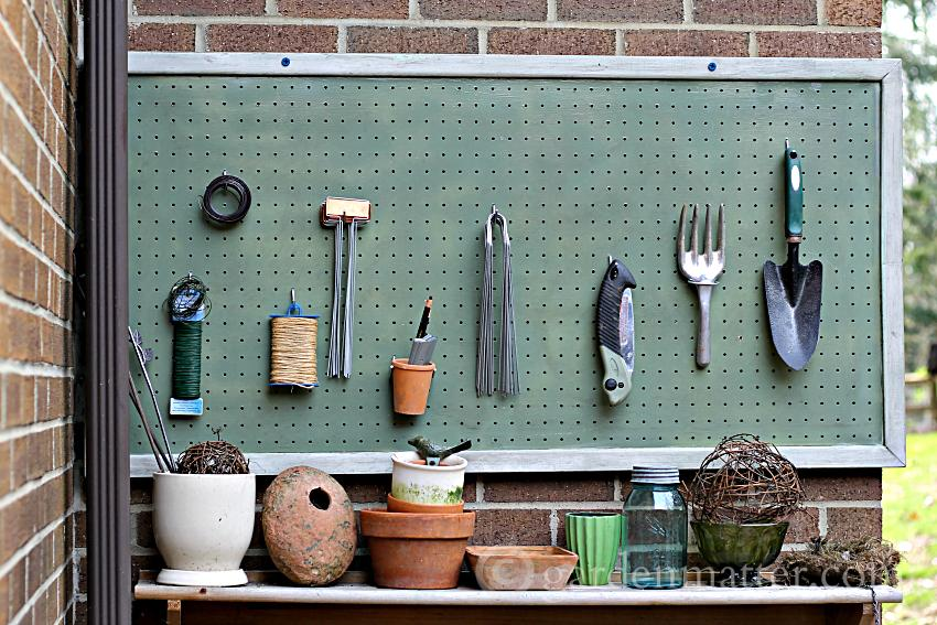 Gardener's Pegboard