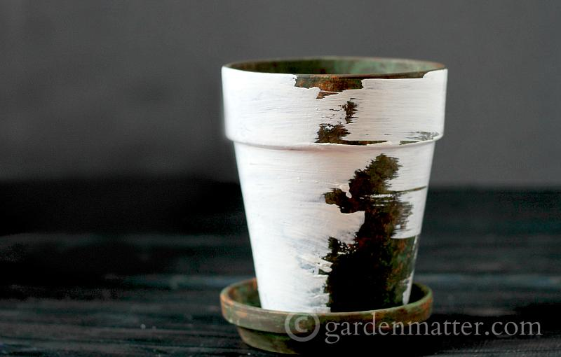 layered - faux aged pot - gardenmatter.com