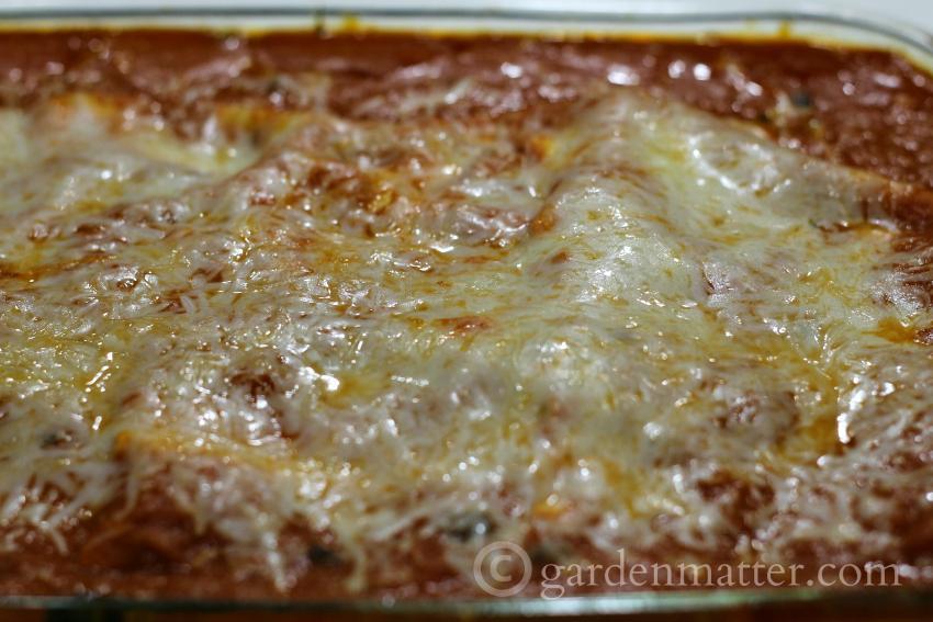 vegetarian lasagna in a pan